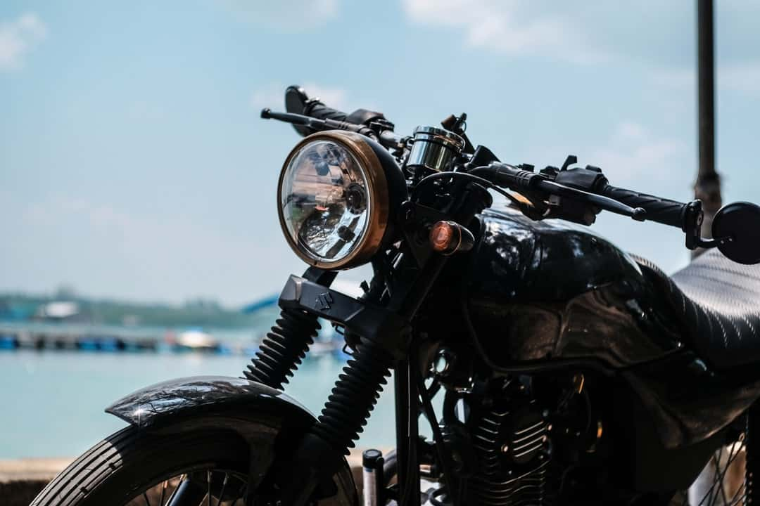 A close up of a motorcycle